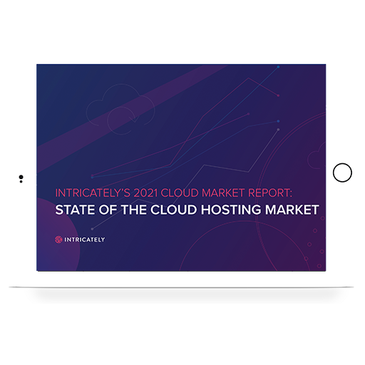 2021 Cloud Hosting Market Report ipad cover - UPDATED